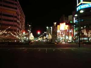 桃太郎大通りのイルミネーション(2004年12月23日撮影)